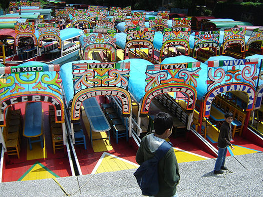 Punts in Xochimilco, Mexico